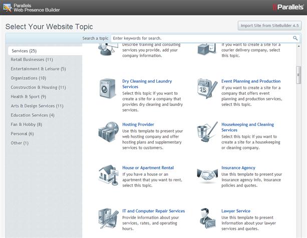 Web Hosting   Web Presence Builder   SherWeb