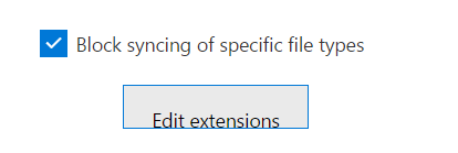 Block Syncing of specific file types