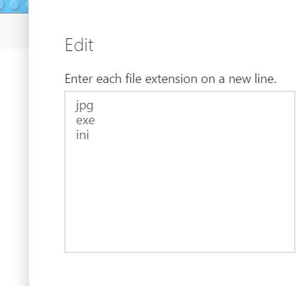 Edit extensions