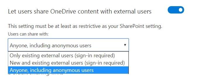 External Sharing