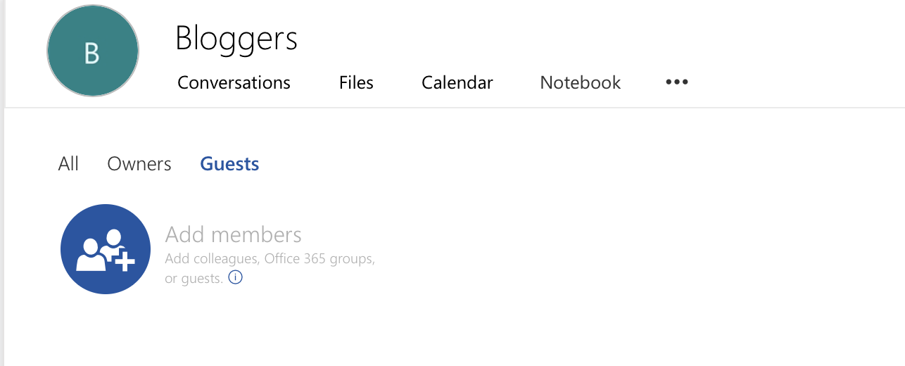 Invite External Members to Office 365 Groups Step 1