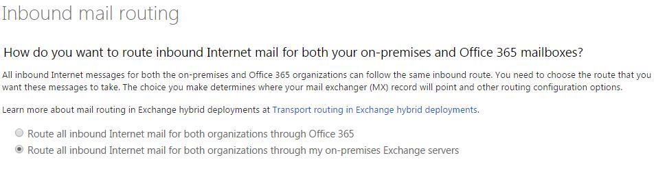 Inbound Mail Routing