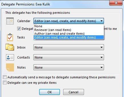 Delegate Access permissions