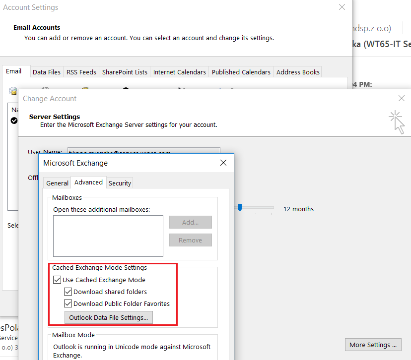 Download shared Folders Tab