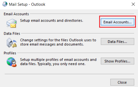 Email accounts