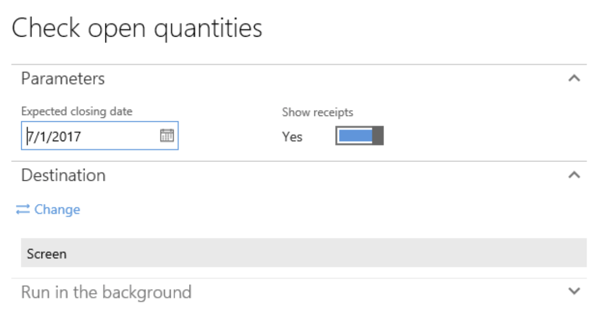 Open quantities.