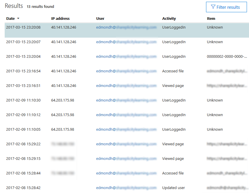 Executing Audit Log Searches-Step 6