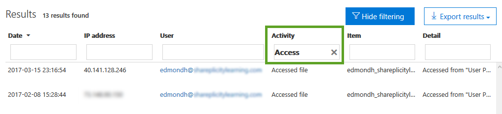 Executing Audit Log Searches-Step 7