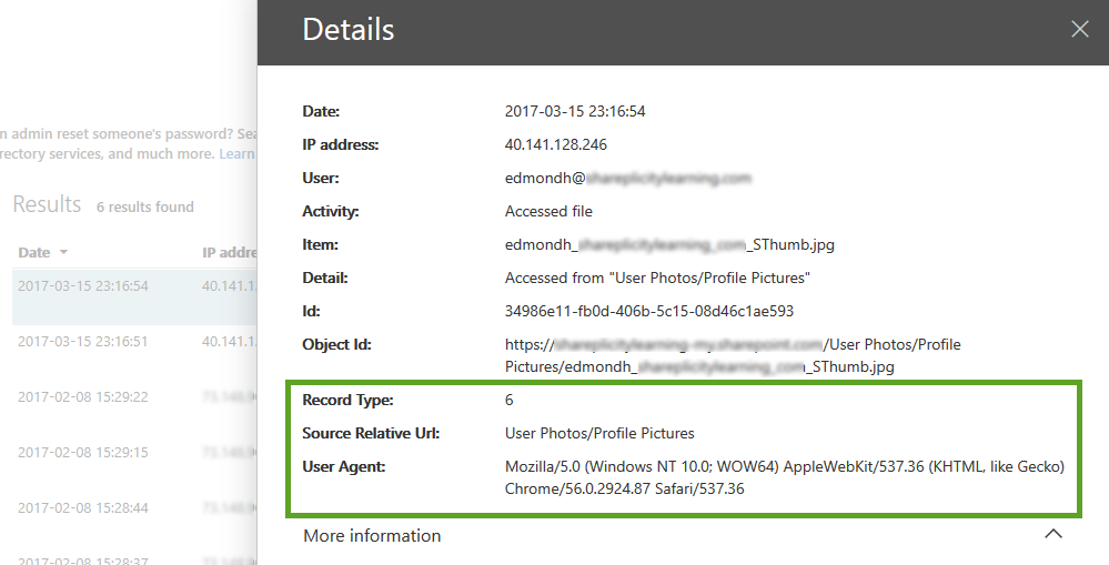 Exporting Audit Log Entries-Step 4