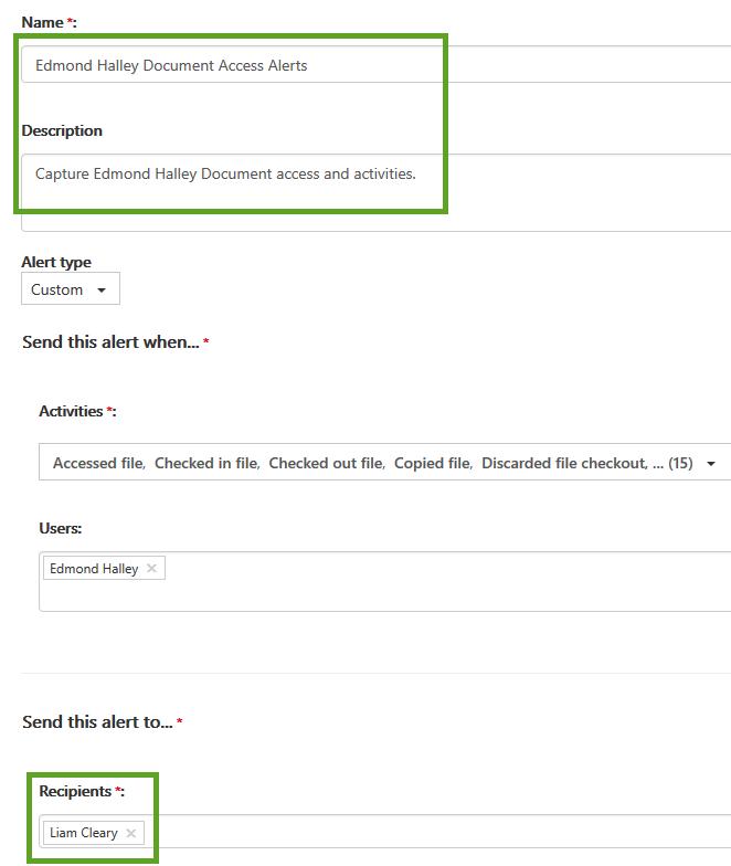Setup Alerts for Audit Log Searches-Step 2