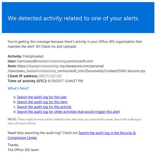 Setup Alerts for Audit Log Searches-Step 3