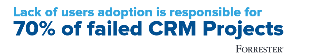 CRM Project fail without User Adoption