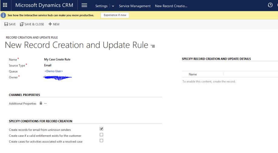 Dynamics CRM Step 1
