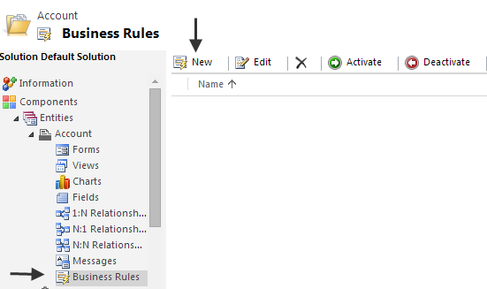Create a new business rules on Dynamics 365