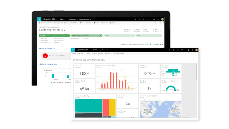Sales Dashboard with CRM