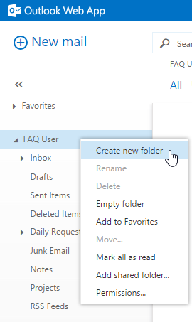 how to keep contents of delete a folder from outlook