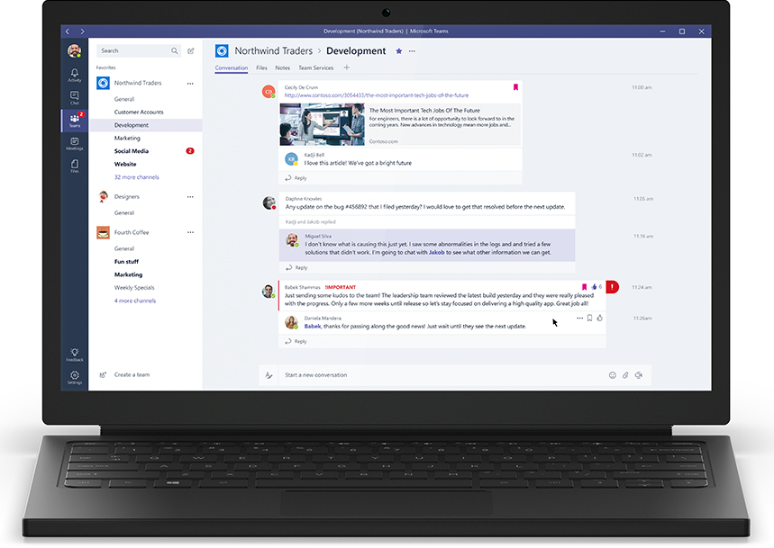 5 Office 365 Real Time Collaboration Features-Teams