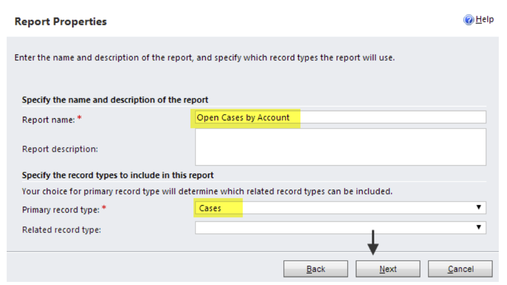 Dynamics 365 Wizard Reports