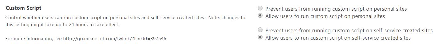 Custom Script Restriction