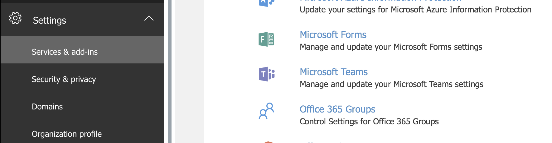 Enable Guest Access for Office 365 Groups Step 1