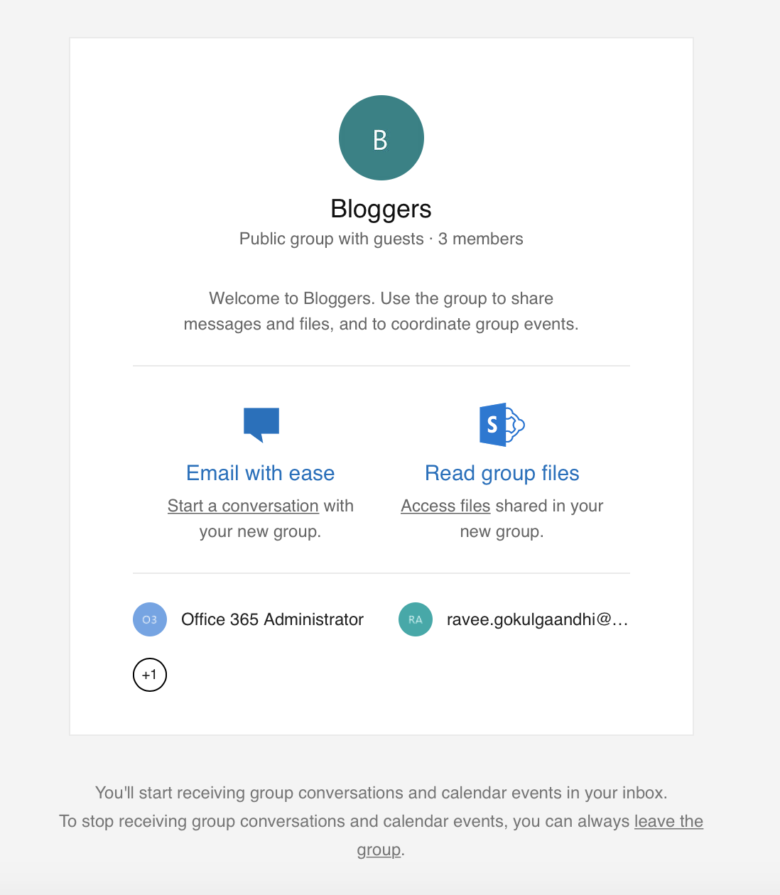 Invite External Members to Office 365 Groups Step 4