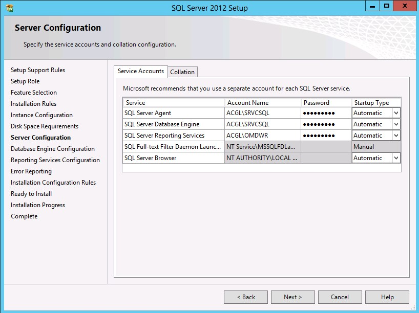 Installing SQL 2012 Server for Reporting Server | SherWeb