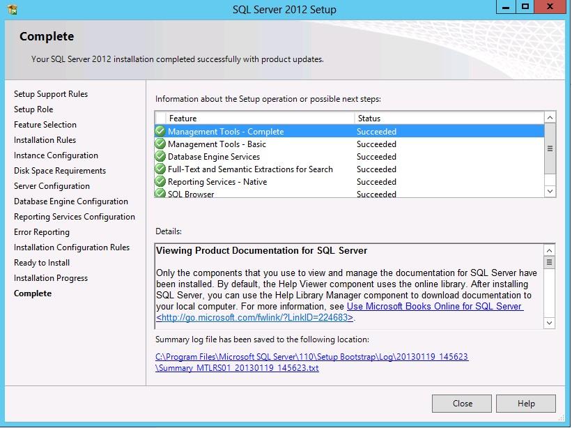 SQL Server Completion
