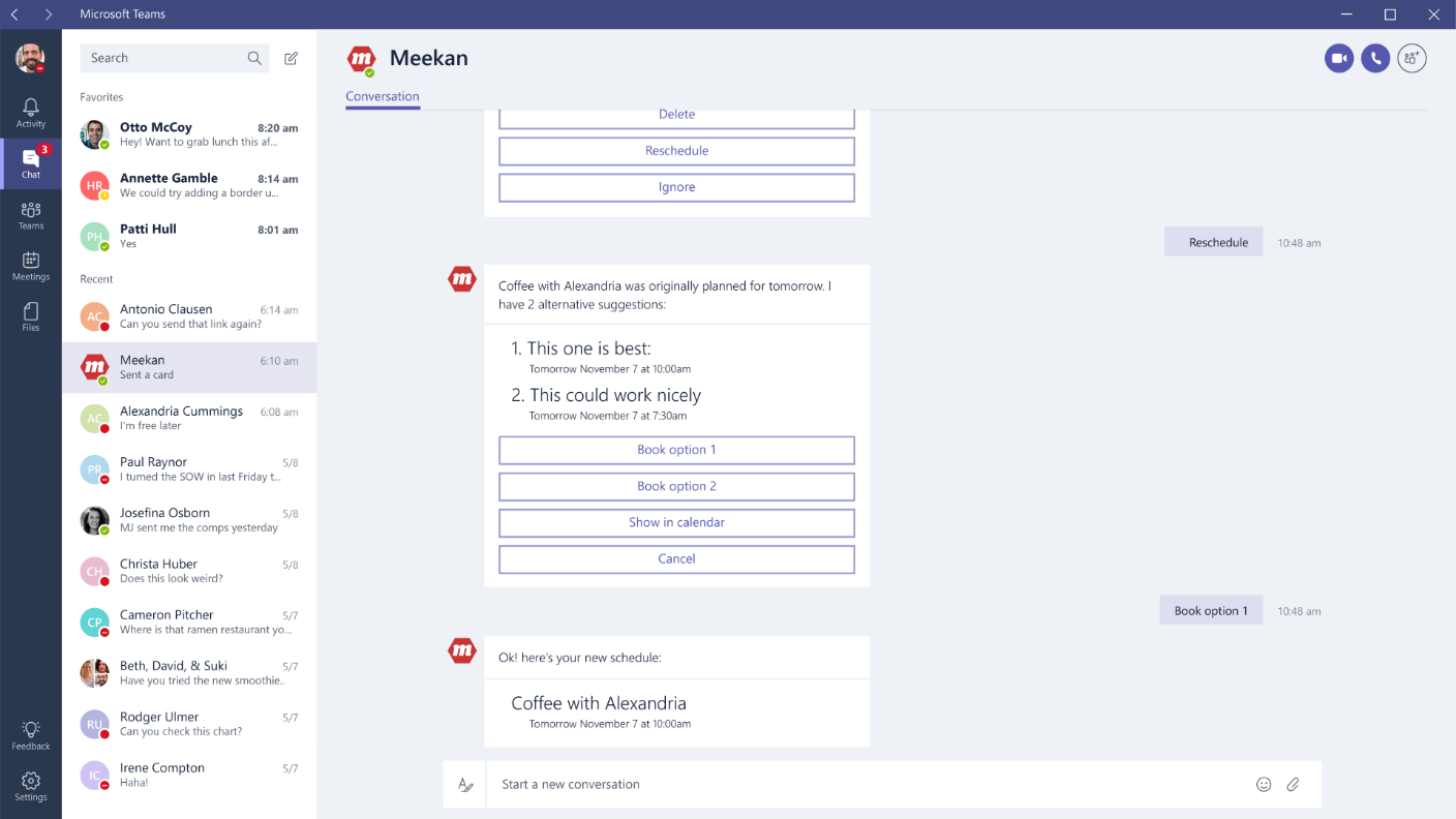 Microsoft Teams App Intergration Method 2: Bots