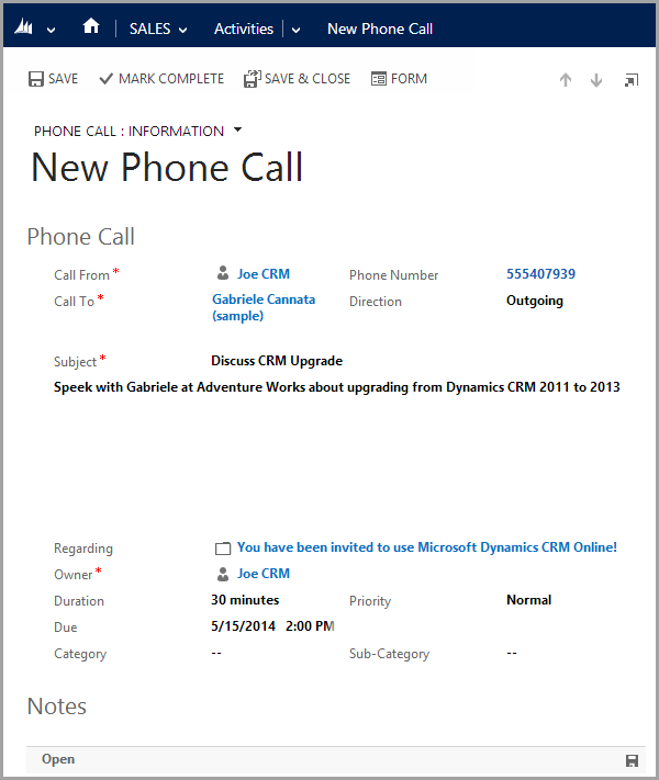 email priority settings dynamics 365