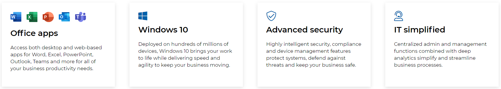What Microsoft 365 comes with