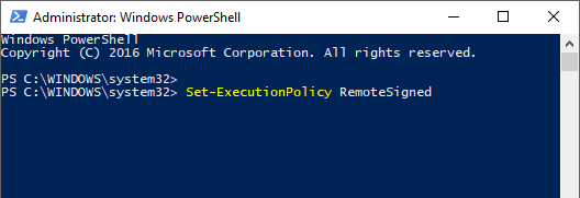 launch a standard PowerShell