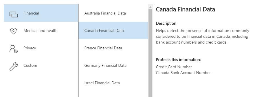 Canadian Financial Description