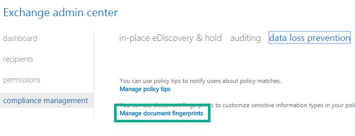 Documents fingerprint
