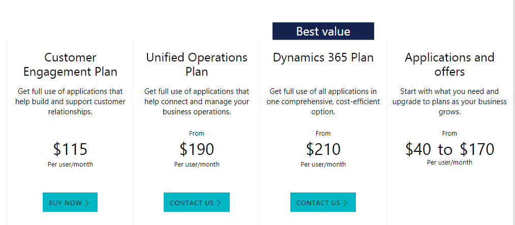 Dynamics 365 Pricing