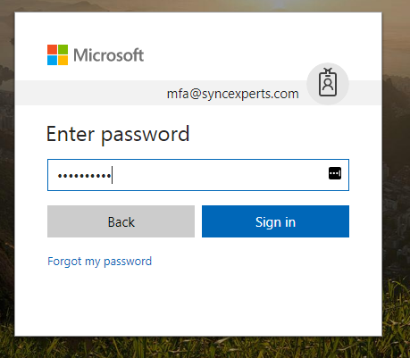 Logging in with multi-factor authentication enabled 2