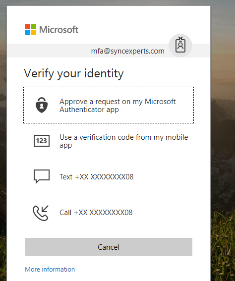 Logging in with multi-factor authentication enabled 5