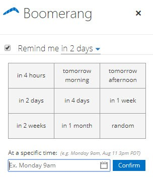 Office 365 Add-in: Email Schedule Image 4