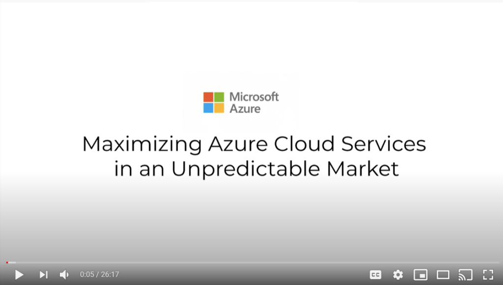 Maximizing Azure Cloud Services video