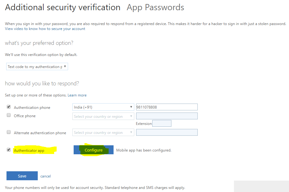Multi-factor authentication Configuring the Authenticator app 1