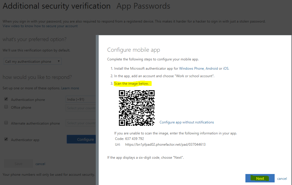 Multi-factor authentication Configuring the Authenticator app 2