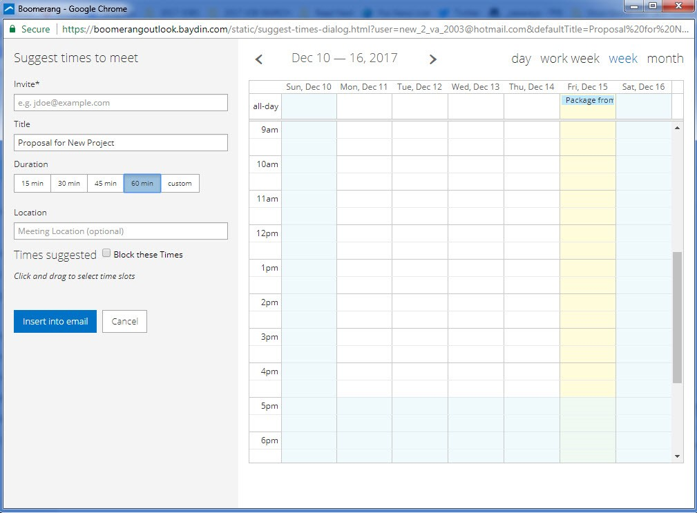 Office 365 Add-in: Email Schedule Image 2