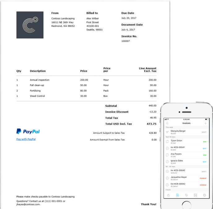 Office 365 Business Center: Get paid fast with professional invoices and online payments