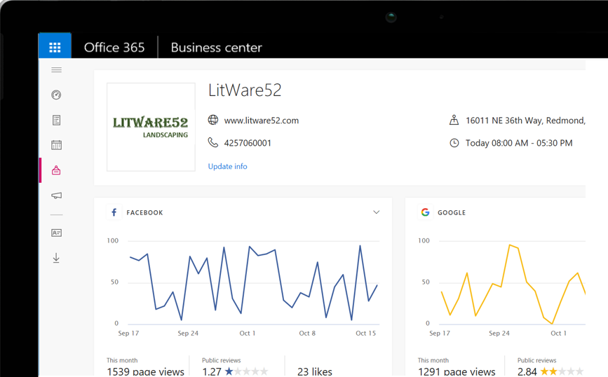 Office 365 Business Center: Bring in new customers by getting your business discovered online