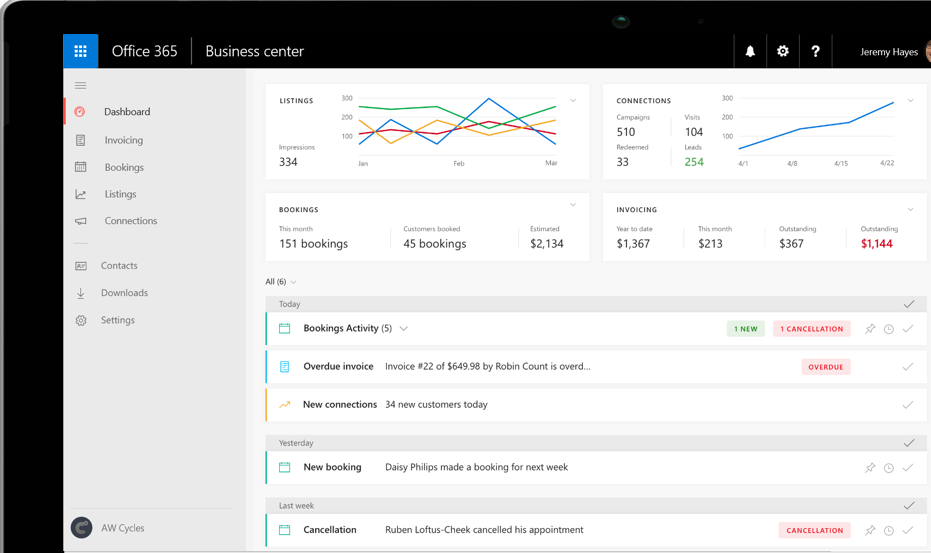 Office 365 Business Center: One location to access business apps and stay on top of your business