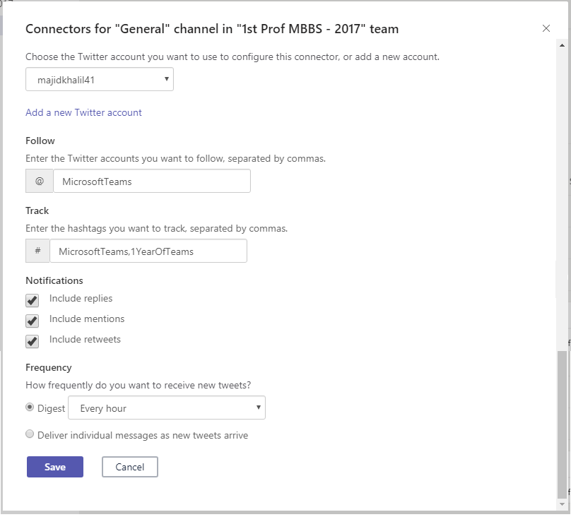 Office 365 Connectors for Microsoft Teams 7