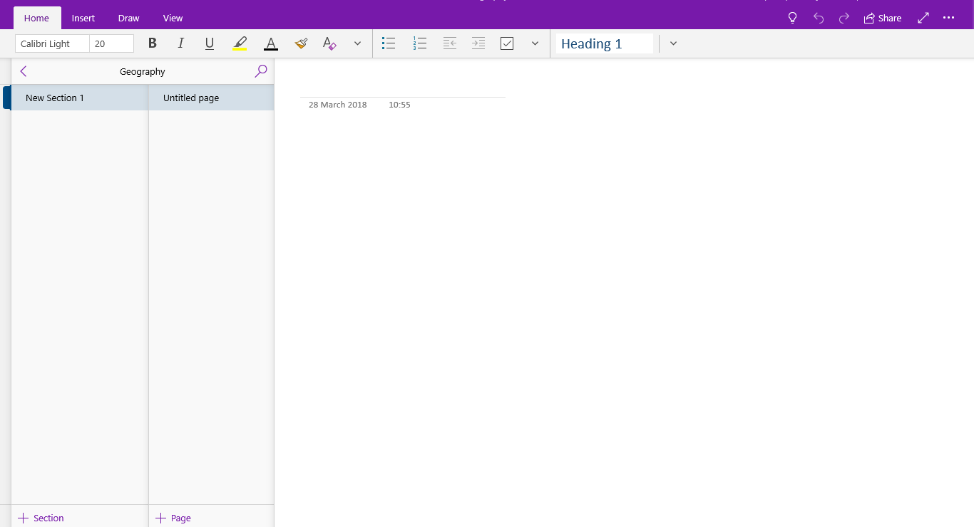 OneNote - Creating a notebook and adding pages to it image
