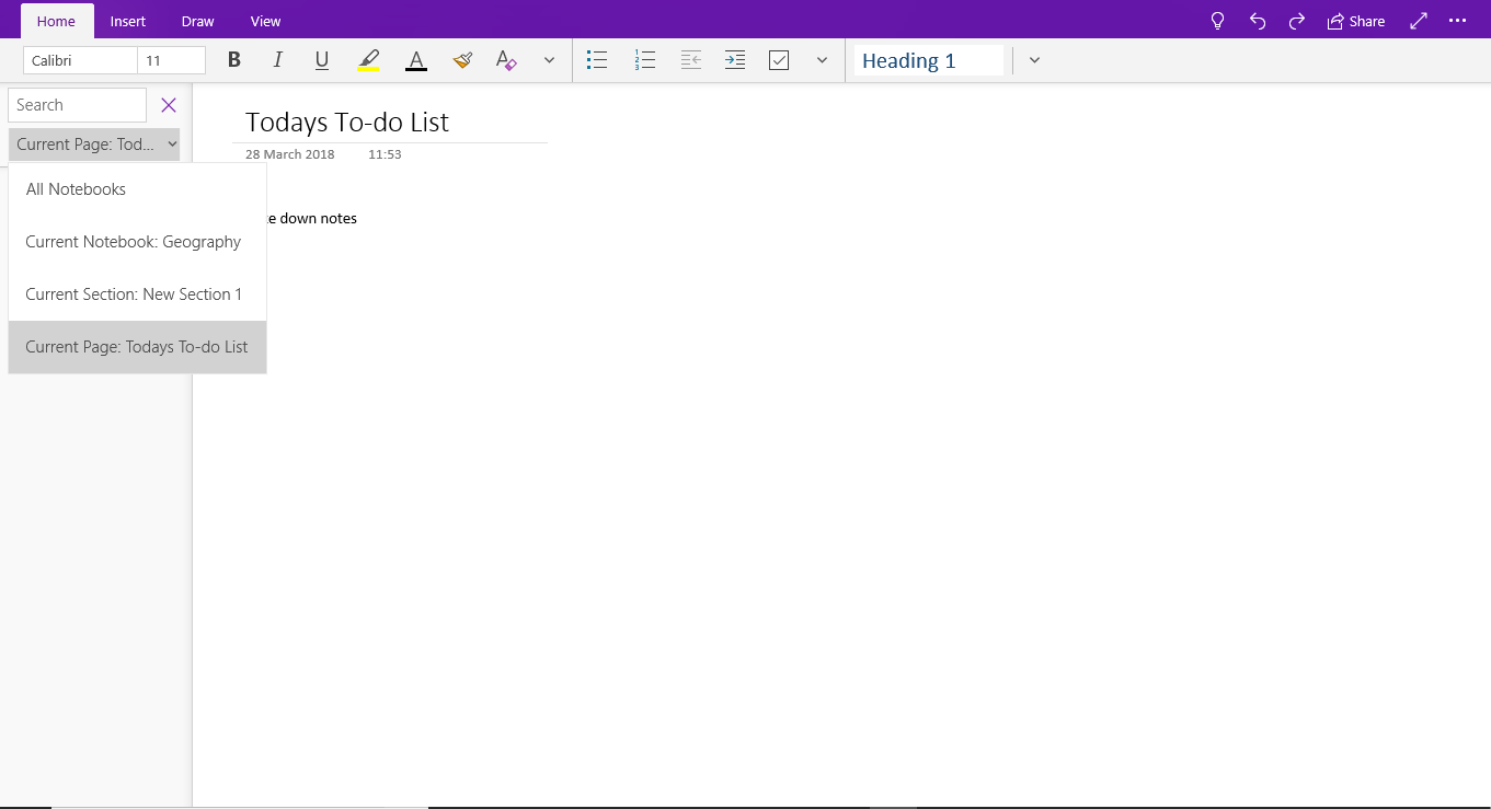 OneNote - Searching for information in notebooks image