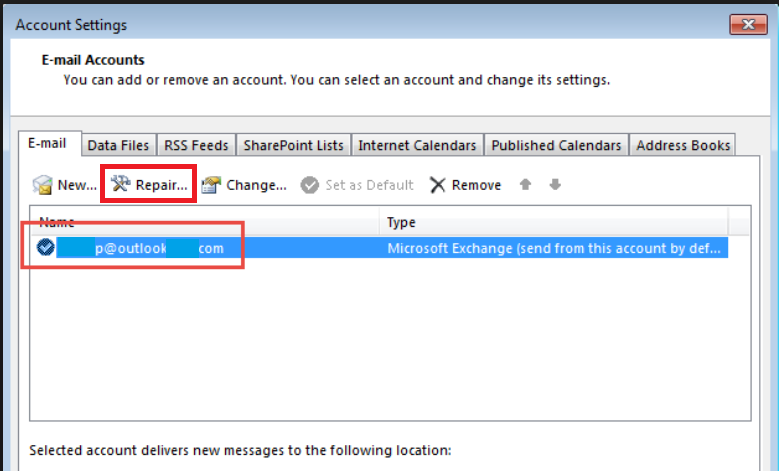your outlook account settings are out of date