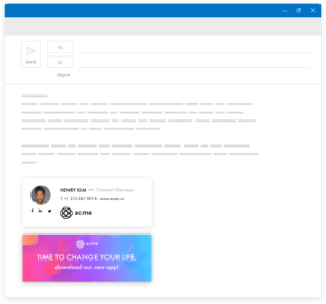 Letsignit generates professional email signatures for your business