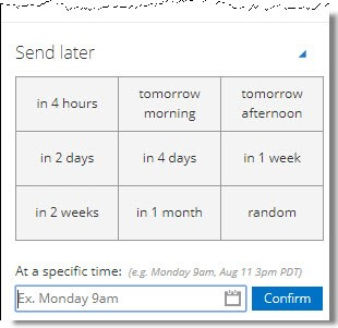Office 365 Add-in: Email Schedule Image 1